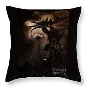 Nightflower Throw Pillow