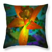 Nightgown Floral Throw Pillow