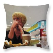 Nighthawks At The Foodcourt Throw Pillow