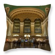 Nighthawks At The Station Throw Pillow