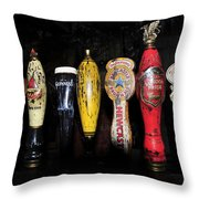 Nightly Lineup Throw Pillow