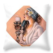 Nights Candle Throw Pillow