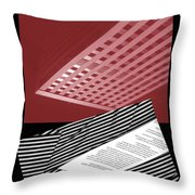 Striped Dreams Of Hubert Humphrey Throw Pillow