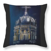 Nights Of Lights Presbyterian Memorial Church St Augustine Florida  Throw Pillow