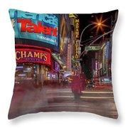 Nights On Broadway Throw Pillow