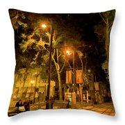 Nights San Jose Downtown  Throw Pillow