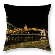Nightscape On The Danube Throw Pillow