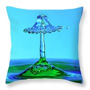 Nightshade Water Droplet Throw Pillow