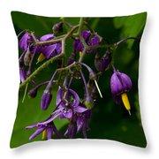 Nightshade Wildflowers #5607 Throw Pillow