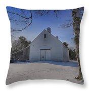Nighttime At The Mallett Barn Throw Pillow