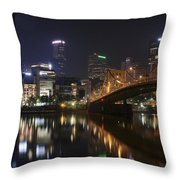 Nighttime In The City Throw Pillow