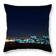 Nighttime Raptors On The Move Throw Pillow