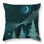 Nighttime Throw Pillow