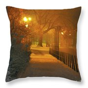 Nigthwalk  Throw Pillow