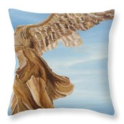 Nike Goddess Of Victory Throw Pillow