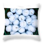 Nike Golf Balls Throw Pillow
