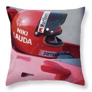 Niki Lauda. 1978 United States Grand Prix Throw Pillow