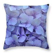 Nikko Blue Petals Throw Pillow