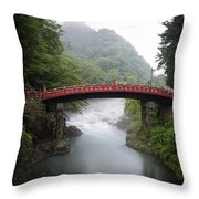 Nikko Shin-kyo Bridge Throw Pillow