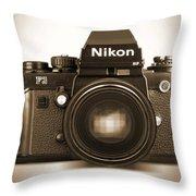 Nikon F3 Hp Throw Pillow