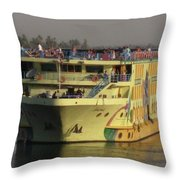 Nile Cruise Ship Throw Pillow