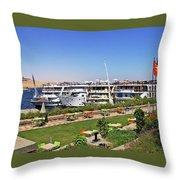 Nile Cruise Ships Aswan Throw Pillow