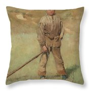 Nils Kreuger, 1858-1930, Young Boy, Scene From Holland. Executed In July-august 1883 Throw Pillow