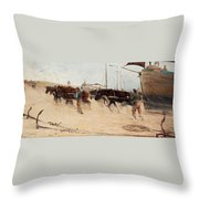 Nils Kreuger,   From The Dutch Coast. Throw Pillow
