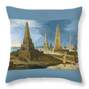 Nimrod Amongst The Monuments Throw Pillow