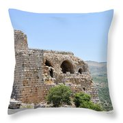 Nimrod Fortress National Park  Throw Pillow