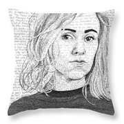 Nina Donovan In Her Own Words Throw Pillow