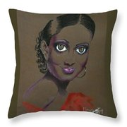 Nina Mae -- African-american Actress Portrait Throw Pillow