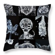 Nine Animals - Version 3 Throw Pillow