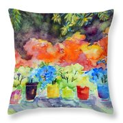 9 Potted Plants Throw Pillow