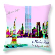 Nine Eleven E Pluribus Unum Throw Pillow