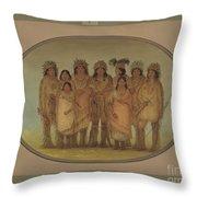 Nine Ojibbeway Indians In London Throw Pillow