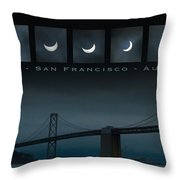 Nine Phases Of An Eclipse 2 Throw Pillow