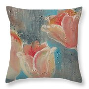Nine Tulips Throw Pillow