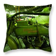 Nineteen Eighteen Harley Davidson Throw Pillow
