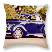 Nineteen Thirty Eight Ford Coupe Throw Pillow