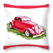 Nineteen Thirty-two Ford Coupe Throw Pillow
