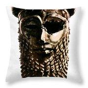 Nineveh: Bronze Head Throw Pillow