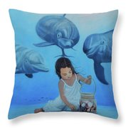Ninia Del Mar Throw Pillow