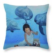 Ninia Del Mar Throw Pillow