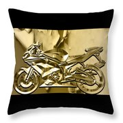 Ninja Motorcycle Colection Throw Pillow