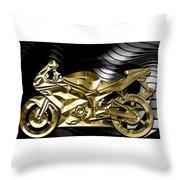 Ninja Motorcycle Collection Throw Pillow