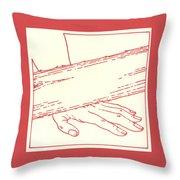 Ninth Station- Jesus Falls The Third Time Throw Pillow