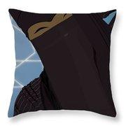 Niqabi Right Throw Pillow
