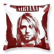 Nirvana Tribute Throw Pillow