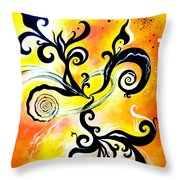 Nirvana Zen Yellow Way To Eternity Throw Pillow